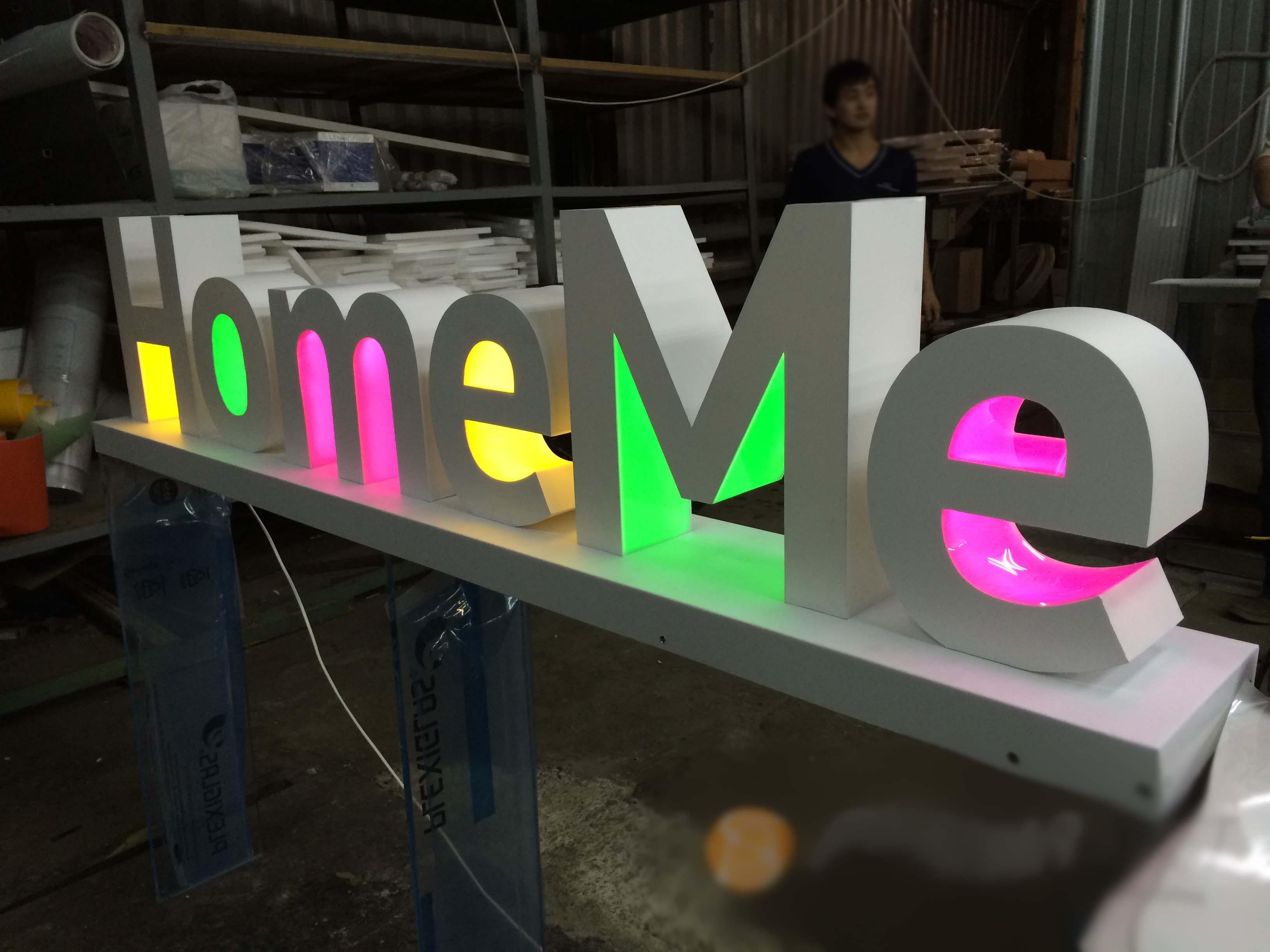Как сделать световые буквы